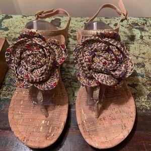 Report   crochet flower flat sandals   8